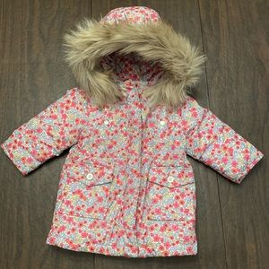 The GAP baby floral hooded puffer coat